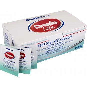 Bradolife fertőtlenítő kendő 100 db