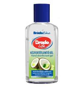 BradoLife kézfertőtlenítő gél Mini kókusz-lime