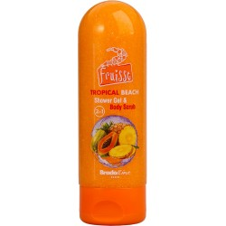 Fruisse shower gel and scrub 2 in 1 Tropical Beach